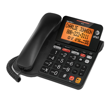 Corded wall mount telephone systems